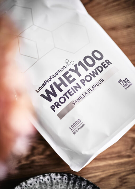 Pure WHEY100 Proteinpulver (Vanilje, 1000 g)