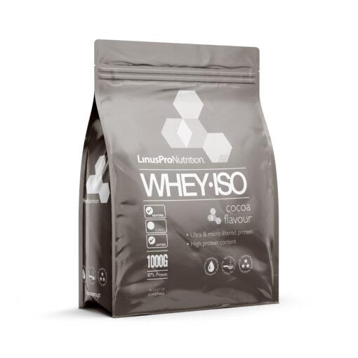 LinusPro WHEY ISO Proteinpulver (Chokolade, 1000 g)
