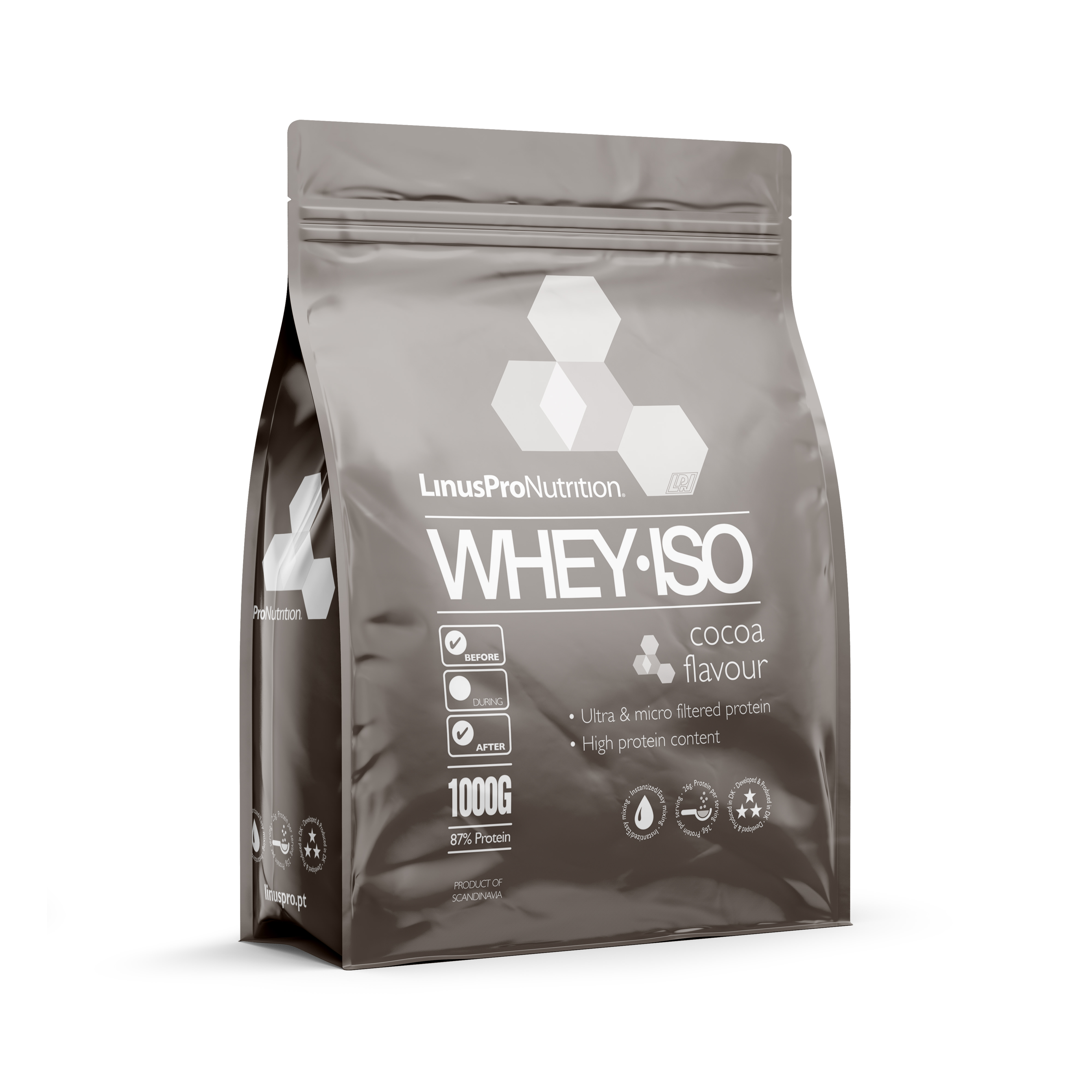 Image of   LinusPro WHEY ISO Proteinpulver (Chokolade, 1000 g)