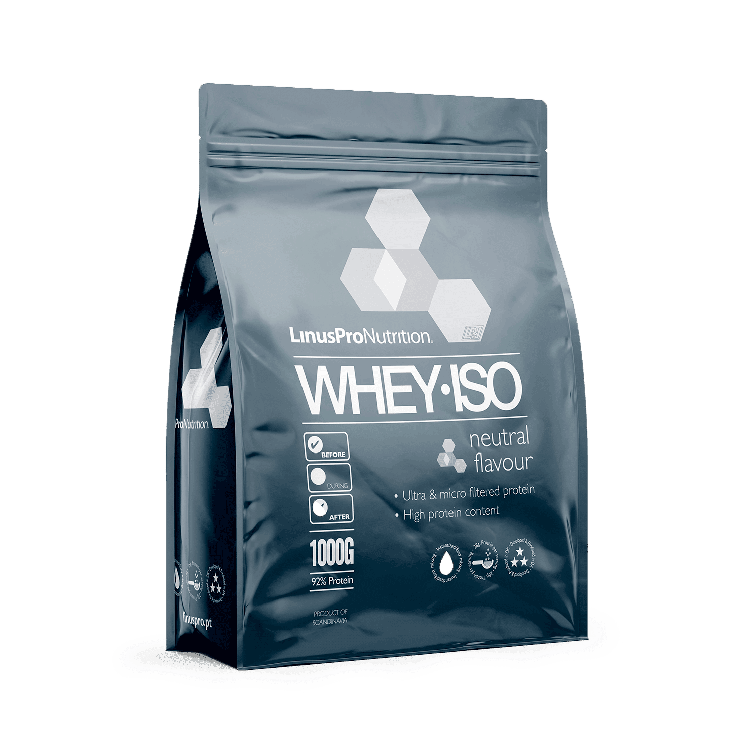 Image of   LinusPro WHEY ISO Proteinpulver (Neutral, 1000 g)