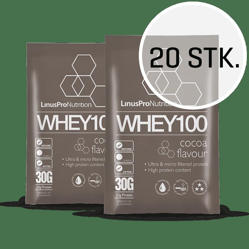 Image of   LinusPro WHEY100 30 g (Chokolade, 20 stk.)