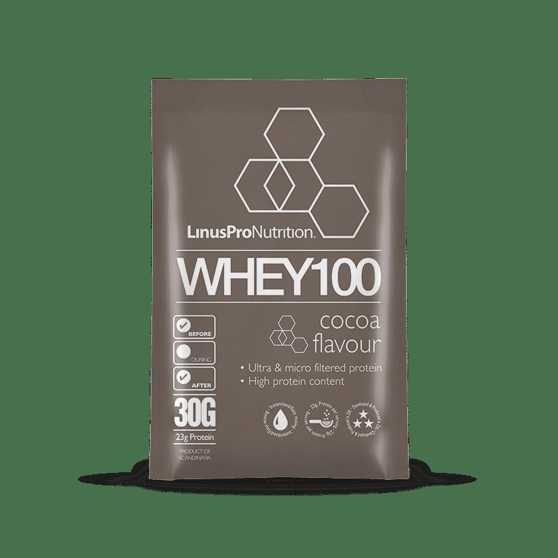 Image of   LinusPro WHEY100 brev (Chokolade, 30 g)