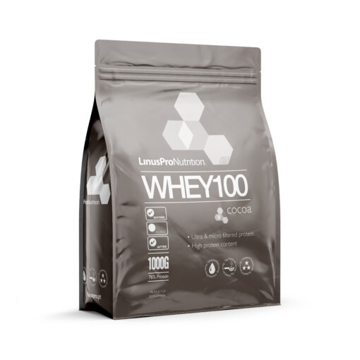 LinusPro WHEY100 Proteinpulver (Chokolade, 1000 g)
