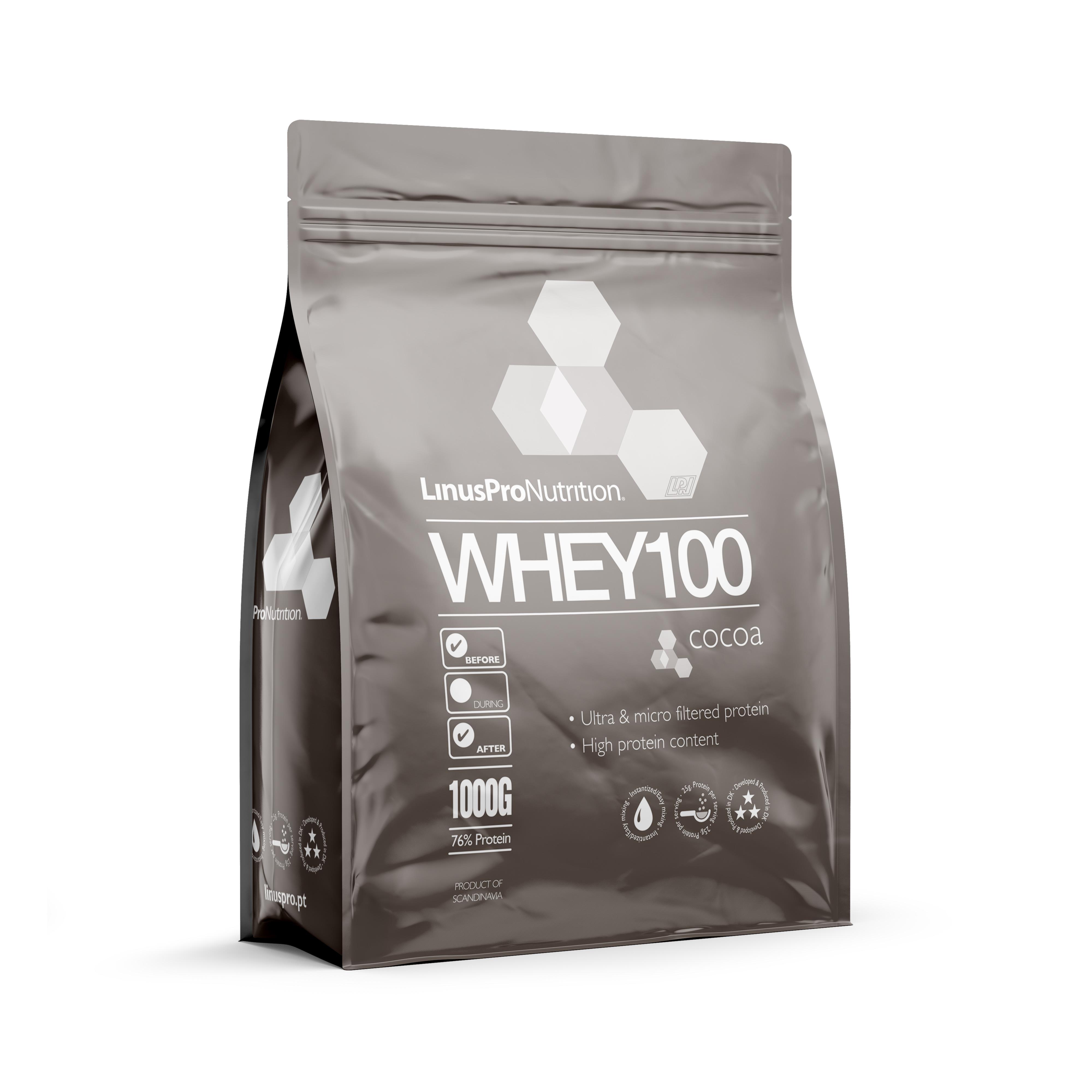 Image of LinusPro WHEY100 Proteinpulver (Chokolade, 1000 g)