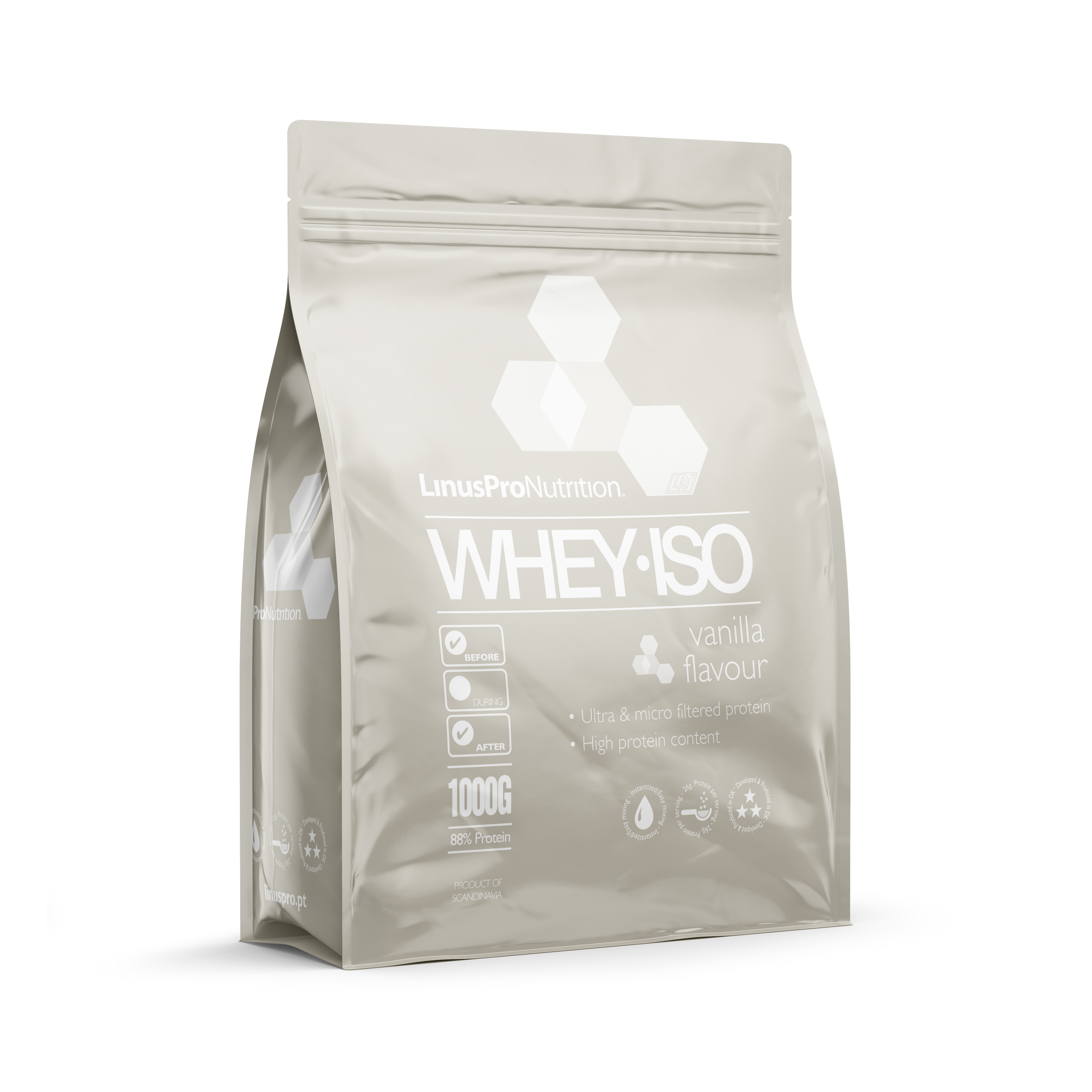 Image of   LinusPro WHEY ISO Proteinpulver (Vanilje, 1000 g)