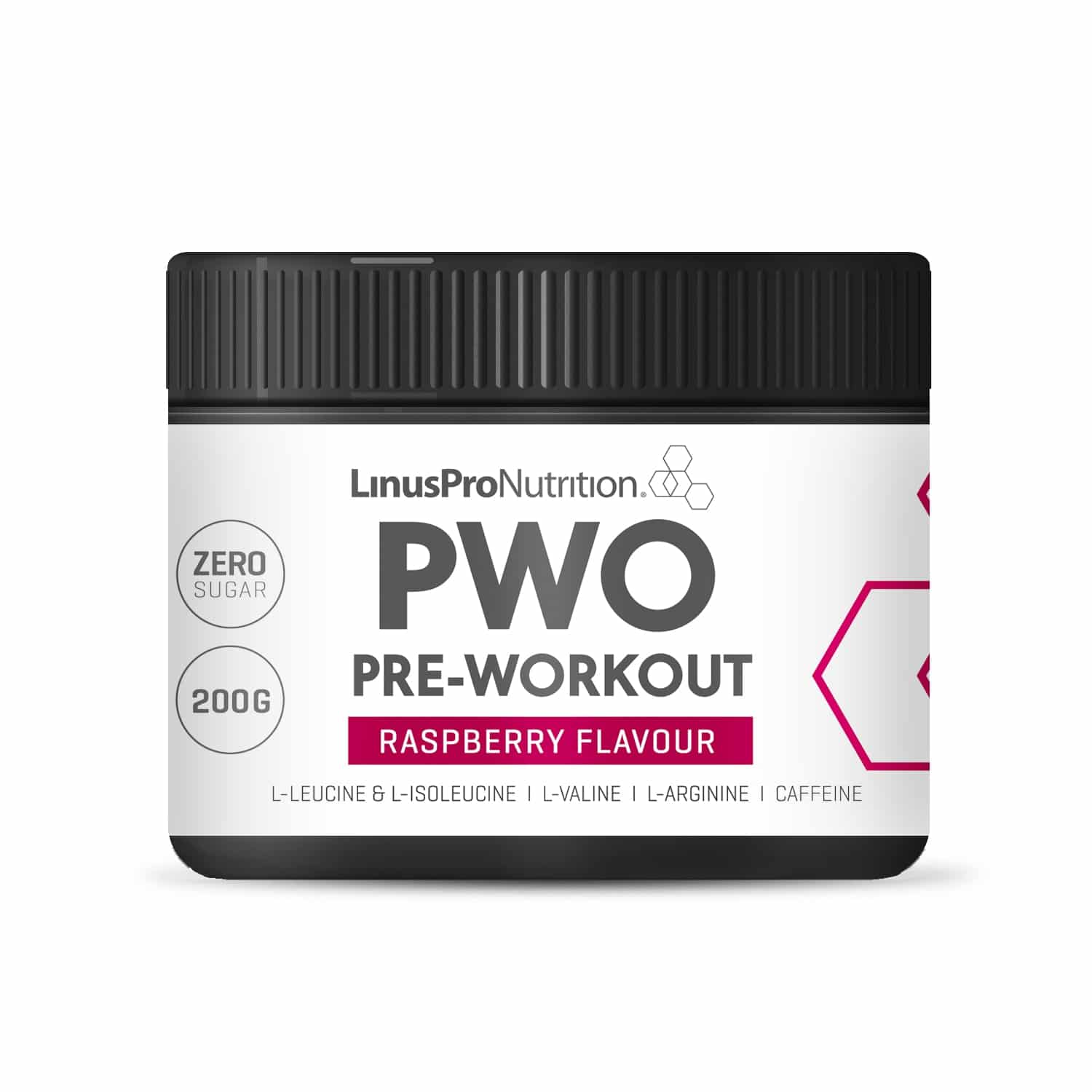 Image of   LinusPro PURE Pre-Workout (PWO) (Hindbær, 200 g)