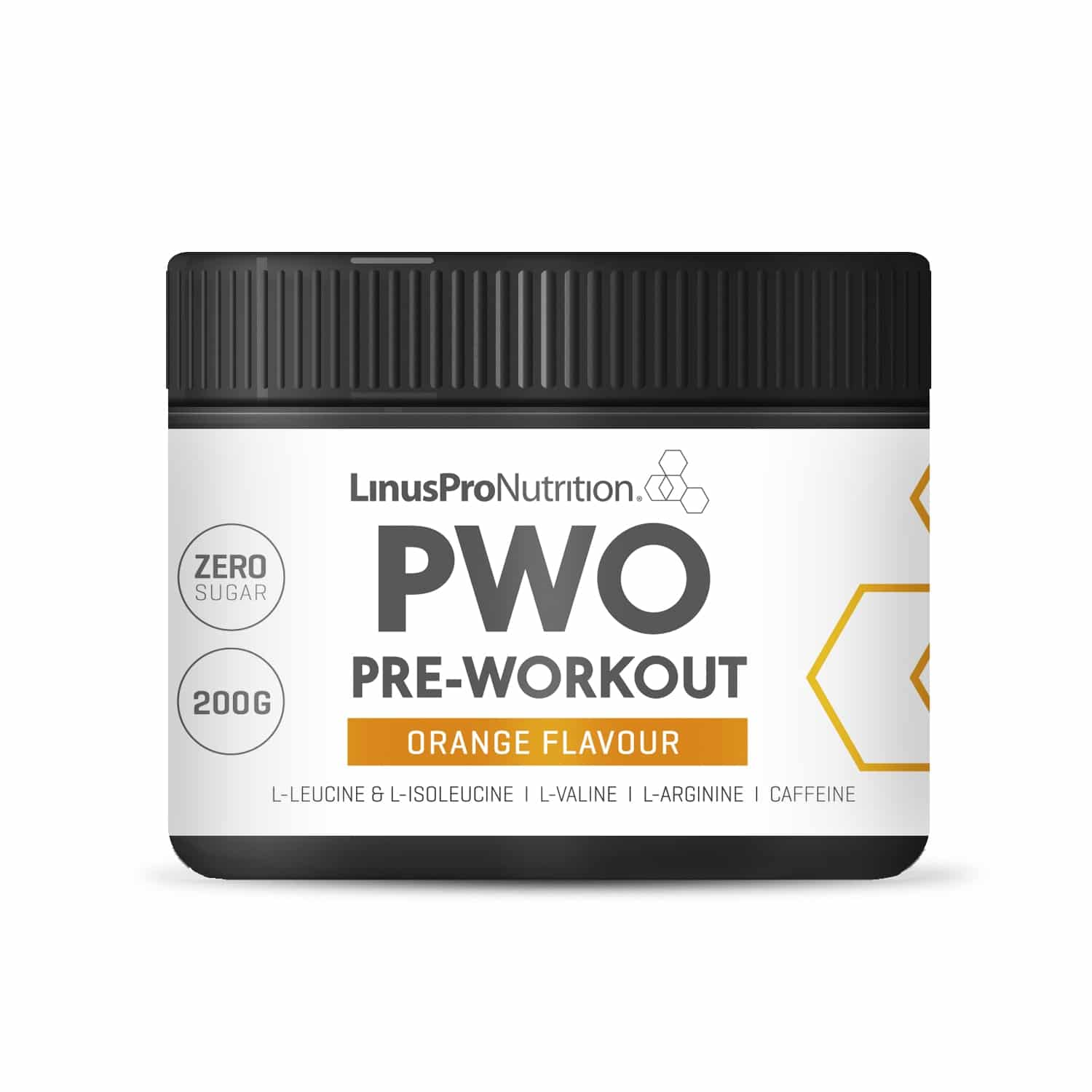 Image of   LinusPro PURE Pre-Workout (PWO) (Appelsin, 200 g)