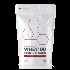 Pure WHEY100 Proteinpulver (Jordbær, 1000 g)