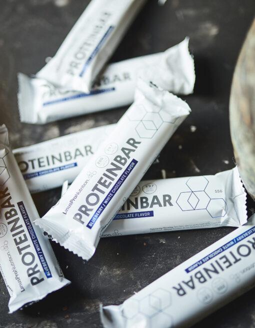 LinusPro Proteinbar (Blåbær & hvid chokolade, 55 g)