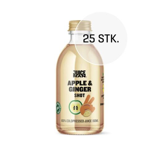 Juiceman økologisk shot 25 stk. (Apple/ginger, 60 ml.)