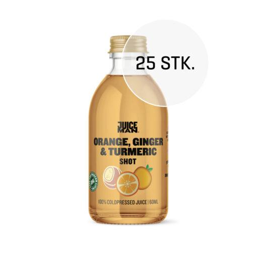 Juiceman økologisk shot 25 stk. (Orange/ginger/turmeric, 60 ml.)