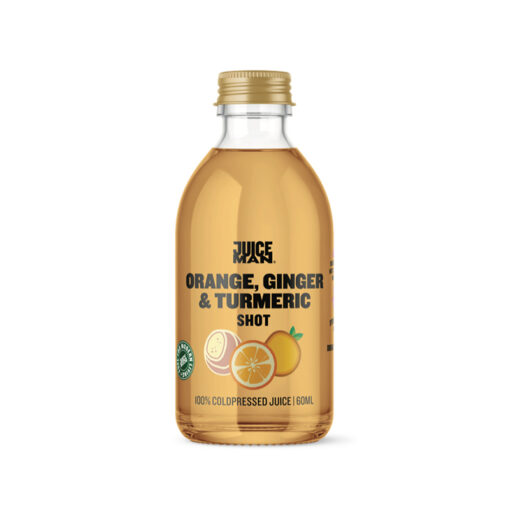 Juiceman økologisk shot (Orange/ginger/turmeric, 60 ml.)