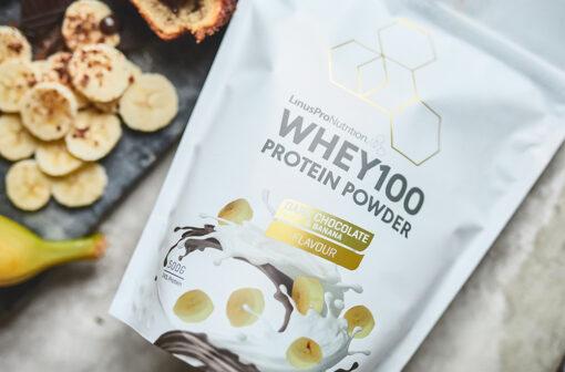 LinusPro PURE WHEY100 – Banana / Dark Chocolate (500 gram)