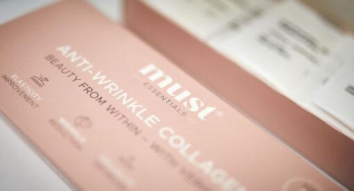 MUST Essentials® Anti-wrinkle collagen med Verisol® – brev sticks (75 gram)