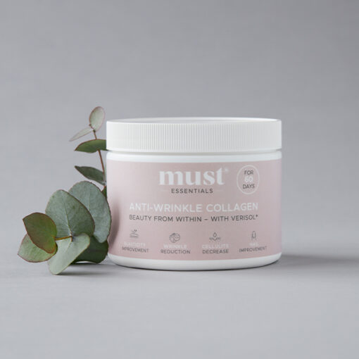 MUST Essentials® Anti-wrinkle Collagen med Verisol® – 60 dage (150 gram)