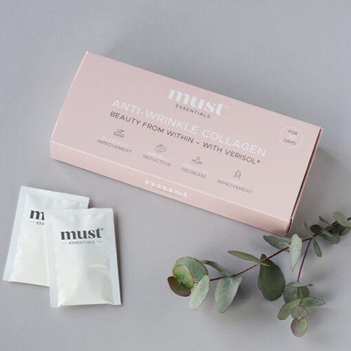 MUST – Anti-wrinkle kollagen 30 sticks (Kollagen, 2,5 g)