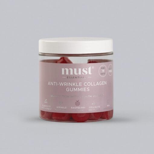 MUST Essentials® Anti-wrinkle Collagen Gummies med Verisol® 60 stk. (15 dage)