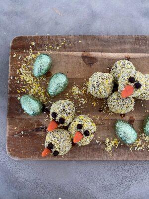 Små søde påske romkugler
