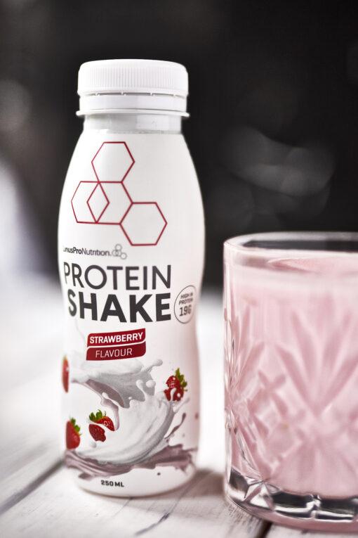 LinusPro Protein Shake 250 ml. Jordbær (12 stk)