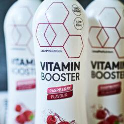 LinusPro Vitamin Booster (Hindbær, 500 ml – 12 stk.)