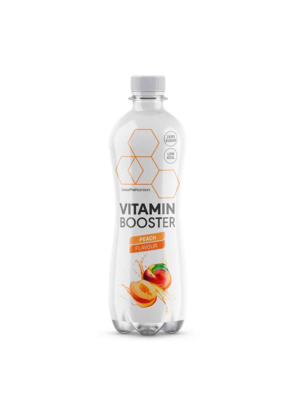 Køb LinusPro Vitamin Booster (Fersken, 500 ml – 12 stk.)